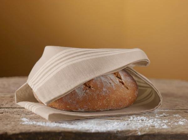 Leinentuch für Zirbenholz Brotdose - Brotkasten