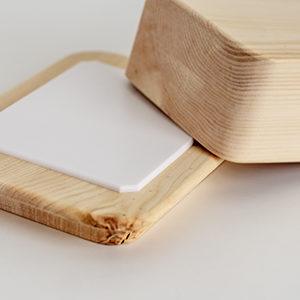 Butterdose Zirbenholz Auflage